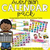 Australian Calendar Pack - Queensland Fonts