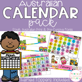 Australian Calendar Pack - South Australian Fonts