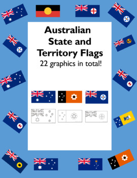 Australian State Flags in Color and Coloring Pages