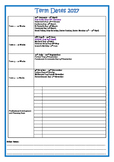 2017 School Calendar + Term Dates ACT