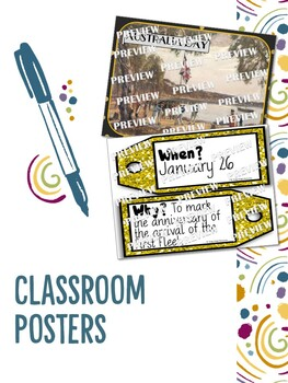 Australian Celebrations Bundle Posters and Ready to Print Flipbooks