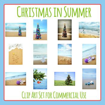 Australian Christmas / Christmas in Summer Clip Art Set for Commercial Use