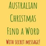 Australian Christmas Find a Word