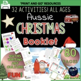 Australian Christmas Worksheets Aussie Activity Packet 80 page Printable Booklet