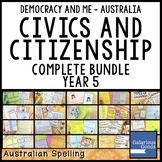 Australian Civics and Citizenship Complete Year 5 Bundle