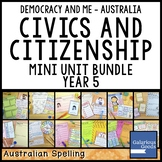 Australian Civics and Citizenship YEAR 5 HASS MINI UNIT BUNDLE