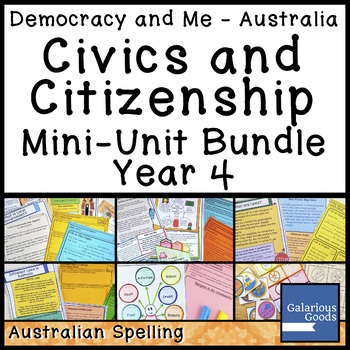 Australian Civics and Citizenship YEAR 4 HASS MINI UNIT BUNDLE