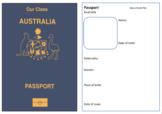 Australian Class Passport Template
