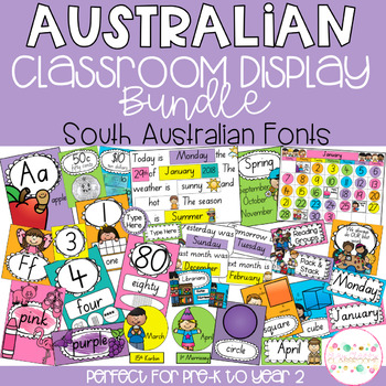 Australian Classroom Display Bundle - South Australian Fonts