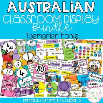 Australian Classroom Display Bundle - Tasmanian Fonts