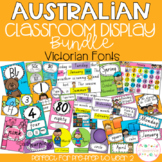 Australian Classroom Display Bundle - Victorian Fonts