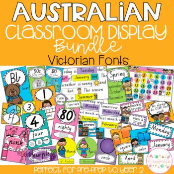 Australian Classroom Display Bundle - Victorian Fonts