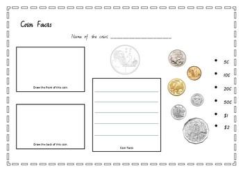 Australian Coin $2 worksheet