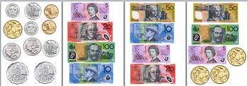 Australian Coin and Dollar Set - Big Version