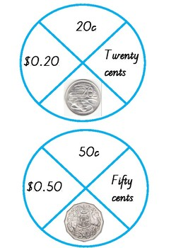 Australian Coin and Note Puzzles