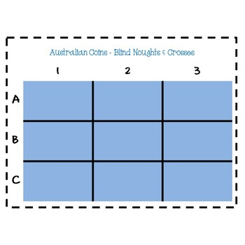 Australian Coins - Blind Noughts and Crosses Maths Game