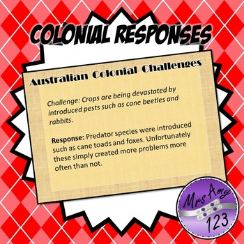 Australian Colonial Challenges
