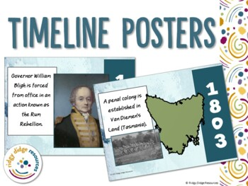 Australian Colonial History Timeline and Activities