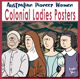 Australian Colonial Women Poster set and Wall Banner - Australian Democracy