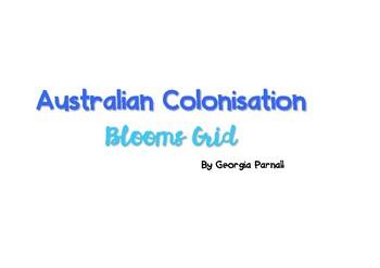 Australian Colonisation Blooms Grid