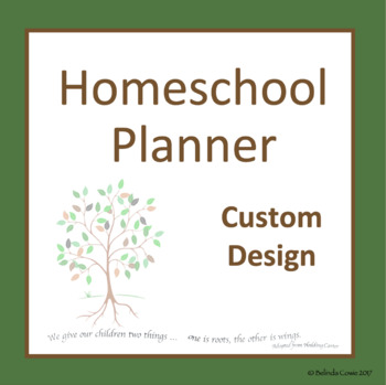 Australian Comprehensive Homeschool Planner - Build Your Own Custom Design