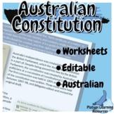 Australian Constitution Year 7 Civics and Citizenship Edit