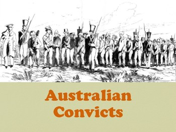 Australian Convict Overview Year 9 History