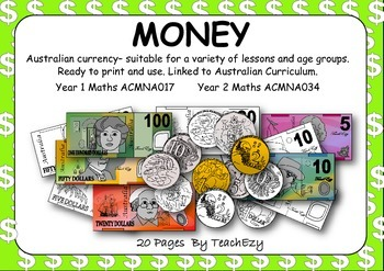 Australian Currency Printable Pages