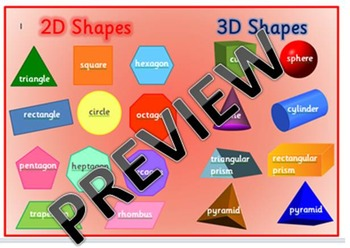 Australian Curriculum - 2D and 3D Shape Mat