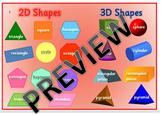 Australian Curriculum - 2D and 3D Shape Mat