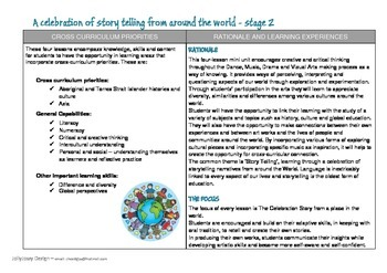 Australian Curriculum - A Celebration of Story telling
