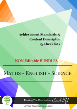 Australian Curriculum  Planning Tool & Checklists BUNDLE -