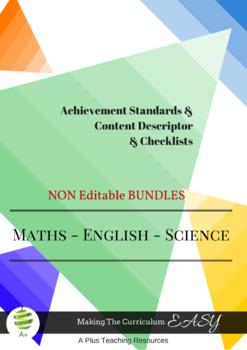 Australian Curriculum  Planning Tool & Checklists BUNDLE - Year 2