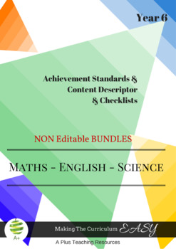 Australian Curriculum  Planning Tool & Checklists BUNDLE - Year 6