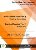 Australian Curriculum  Checklists Foundation GEOGRAPHY