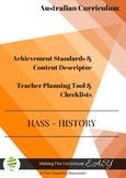 Australian Curriculum  Checklists  Y1  HISTORY