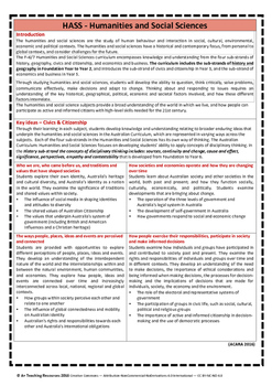 Australian Curriculum Achievement Standard & Curriculum Tracker - Y3 CIVICS