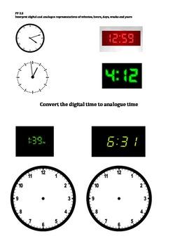 Australian Curriculum Aligned Assessment - Time AUSVELS