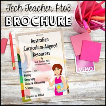 Australian Curriculum Aligned Resources by TechTeacherPto3 2018 Brochure