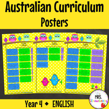 Year 4 Australian Curriculum Posters – English
