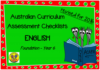 Australian Curriculum Assessment Check-lists English - F-7 2016 VERSION