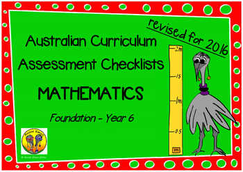 Australian Curriculum Assessment Check-lists Maths F -7  2016 VERSION
