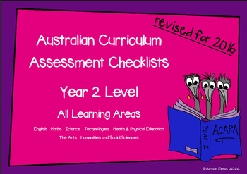 Australian Curriculum Assessment Check-lists for Year 2   2016 VERSION