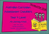 Australian Curriculum Assessment Check-lists for Year 4 - 2016 VERSION