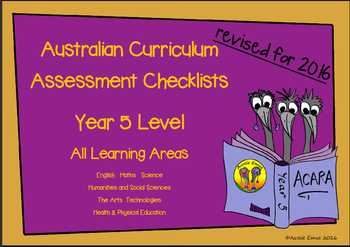 Australian Curriculum Assessment Check-lists for Year 5 2016 VERSION