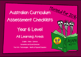 Australian Curriculum Assessment Check-lists for Year 6 -2