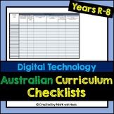 Australian Curriculum Assessment Checklist - Digital Technology (Year R-8)