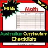 Australian Curriculum Assessment Checklist - Maths (Year 2)