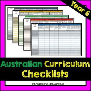 Australian Curriculum Assessment Checklist - Year 6