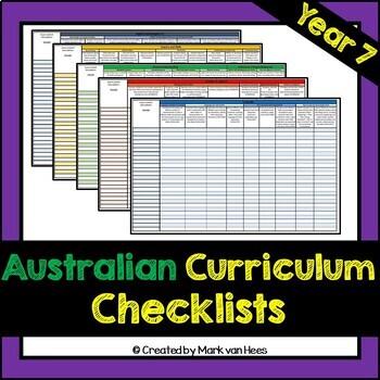 Australian Curriculum Assessment Checklist - Year 7